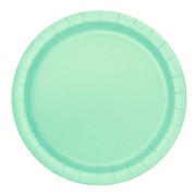 Mint Green 7in. Paper Plates Pk 20