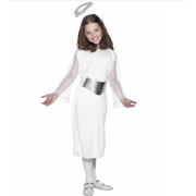 Child Christmas Angel with Halo Costume (Large, 10-12 Years) Pk 1
