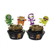 Halloween Boo Crew Cupcake Kit With Pick Toppers Pk 24