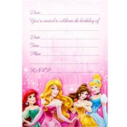 Disney Princess Invitations Pk 8