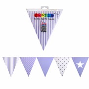 Lavender Party Flags Pk 50