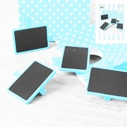Mini Blue Blackboards Pk 4