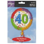 Balloon Foil 18in 40 Perfection Pk1