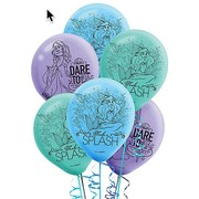 Ariel Little Mermaid Latex Balloons (30cm) Pk 6