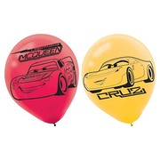 Cars 3 Latex Balloons (30cm) Pk 6