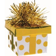 Balloon Weight Gift Box Gold Pk1