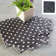 Black Star Lunch Napkins 2ply Pk 20