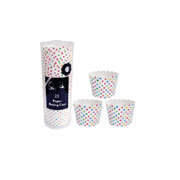 Multi Coloured Polka Dot Baking Cups Pk 25