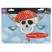Balloon Foil Supershape Pirate Party Skull Pk1