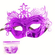 Purple Fancy Glitter Masquerade Mask Pk 1