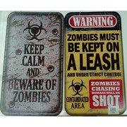 Assorted Halloween Zombie Street Sign Decorations Pk 2