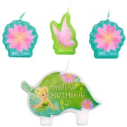 Tinkerbell Moulded Candle Set Pk 4