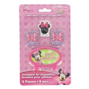 Minnie Mouse Party Candles  - Pk 4 (Assorted Designs)