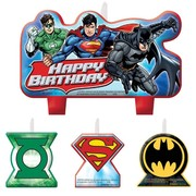Justice League Moulded Candle Set Pk 4