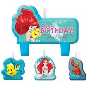 Little Mermaid Ariel Candle Set Pk 4 (Assorted Designs)