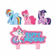 My Little Pony Moulded Candle Set Pk 4
