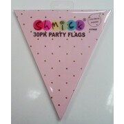 Luxe Pink & Gold Party Flags for Bunting Banner (30 Flags)