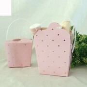 Luxe Pink Party Noodle Box with Gold Dots Pk 3