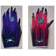 Halloween Assorted Colour Vampire Gloves with Claws (2 Pairs)