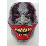Halloween Full Face Light Up Evil Clown Mask Pk 1