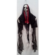 Hanging Ghost Doll Decoration with Light Up Red Eyes (100cm) Pk 1