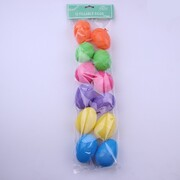 Assorted Colour Fillable Plastic Easter Eggs (6cm) Pk 12