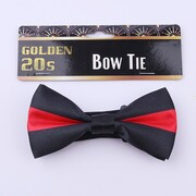Adult 20's Striped Red & Black Bow Tie Pk 1