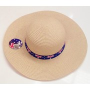 Adult Australian Aussie Flag Straw Beach Hat Pk 1