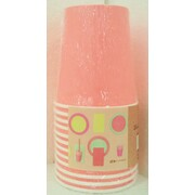 Bright Coral 200ml Paper Cups Pk 12