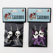 Assorted Halloween Day Of The Dead Earrings (2 Pairs)