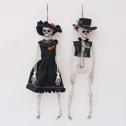 Assorted Day of The Dead Hanging Skeleton Decoration (40cm) Pk 2