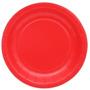 Cherry Red Round Paper Plates (22.5cm) Pk 20