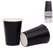 Midnight Black 9oz. Paper Cups Pk 20