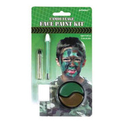 Camouflage Face Paint Kit With Sponge & Paint Pk 1
