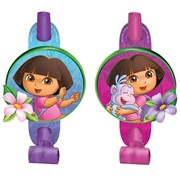 Dora The Explorer Blowouts Pk 8 (2 Designs, 4 of each)