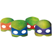 Teenage Mutant Ninja Turtles Party Masks Pk 8 (4 Designs, 2 of Each)