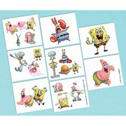 Spongebob Squarepants Tattoos (1 Sheet of 16 Tattoos)