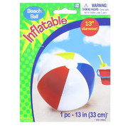 Inflatable Beach Ball 33cm Pk 1
