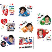 One Direction Tattoos (1 Sheet of 16 Tattoos)