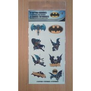 Batman Tattoos (1 Sheet of 8 Tattoo Squares)