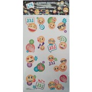 Emoji LOL Tattoos (1 Sheet of 8 Tattoo Squares)