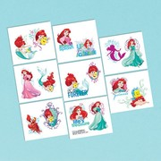 Little Mermaid Temporary Tattoos Pk 16