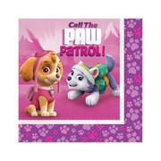 Paw Patrol Girl 2 Ply Lunch Napkins Pk 16