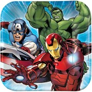 Avengers 7in. Square Paper Plates Pk 8