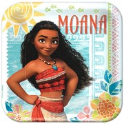 Moana 9in. Square Paper Plates Pk 8