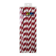 Red Paper Straws Pk 20