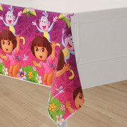 Dora The Explorer Plastic Tablecover (137 x 243cm) Pk 1