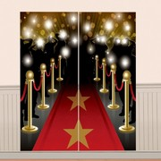Red Carpet Award Scene Setter Wall Decorating Kit (165cm x 82cm) Pk 1