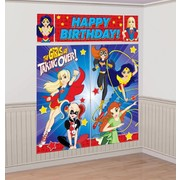 Super Hero Girls Giant Scene Setter Wall Decorating Kit - 5 Piece Set