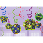 Teenage Mutant Ninja Turtles Hanging Swirl Decorations Pk 12